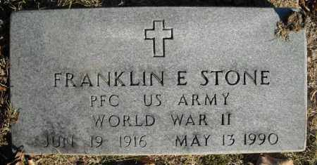 STONE  (VETERAN  WWII), FRANKLIN E - Faulkner County, Arkansas | FRANKLIN E STONE  (VETERAN  WWII) - Arkansas Gravestone Photos
