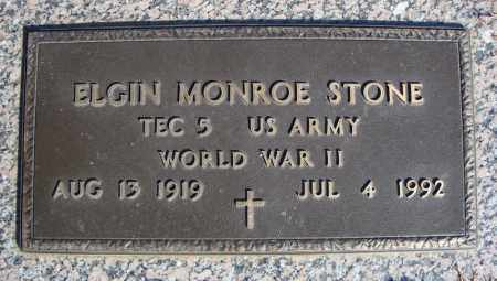 STONE (VETERAN WWII), ELGIN MONROE - Faulkner County, Arkansas | ELGIN MONROE STONE (VETERAN WWII) - Arkansas Gravestone Photos