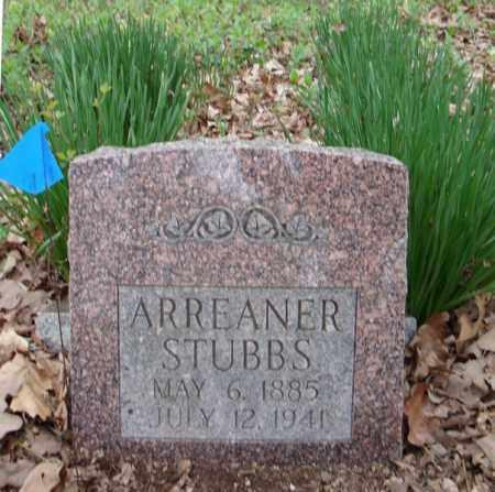 STUBBS, ARREANER - Faulkner County, Arkansas | ARREANER STUBBS - Arkansas Gravestone Photos