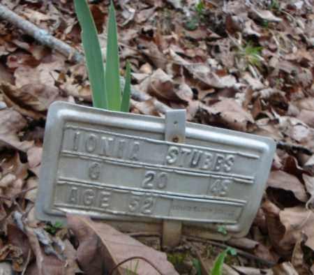 STUBBS, IONIA - Faulkner County, Arkansas   IONIA STUBBS - Arkansas Gravestone Photos