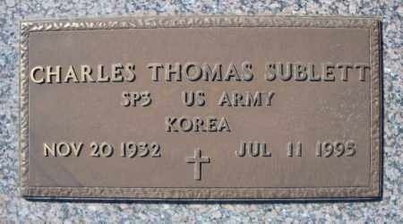 SUBLETT (VETERAN KOR), CHARLES THOMAS - Faulkner County, Arkansas | CHARLES THOMAS SUBLETT (VETERAN KOR) - Arkansas Gravestone Photos