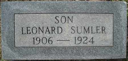 SUMLER, LEONARD - Faulkner County, Arkansas | LEONARD SUMLER - Arkansas Gravestone Photos