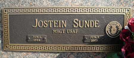 SUNDE (VETERAN), JOSTEIN - Faulkner County, Arkansas | JOSTEIN SUNDE (VETERAN) - Arkansas Gravestone Photos