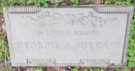 SURRATT, GEORGIE ANN SOPHRONIA - Faulkner County, Arkansas | GEORGIE ANN SOPHRONIA SURRATT - Arkansas Gravestone Photos