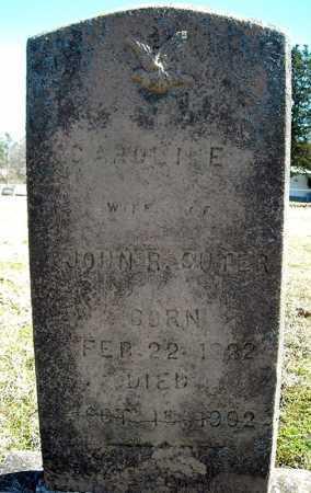 SUTER, CAROLINE - Faulkner County, Arkansas | CAROLINE SUTER - Arkansas Gravestone Photos