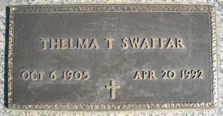 SWAFFAR, THELMA T. - Faulkner County, Arkansas | THELMA T. SWAFFAR - Arkansas Gravestone Photos