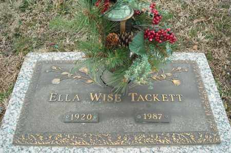 WISE TACKETT, ELLA - Faulkner County, Arkansas | ELLA WISE TACKETT - Arkansas Gravestone Photos