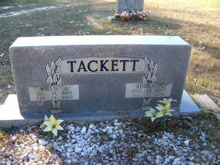 TACKETT, WILLIE A. - Faulkner County, Arkansas | WILLIE A. TACKETT - Arkansas Gravestone Photos