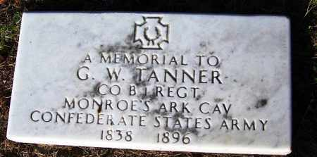 TANNER (VETERAN CSA), G W - Faulkner County, Arkansas | G W TANNER (VETERAN CSA) - Arkansas Gravestone Photos