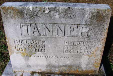 TANNER, WILLIAM F. - Faulkner County, Arkansas | WILLIAM F. TANNER - Arkansas Gravestone Photos
