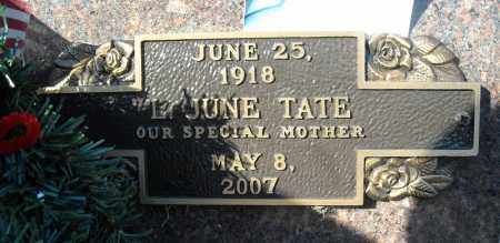 TATE, L. JUNE - Faulkner County, Arkansas | L. JUNE TATE - Arkansas Gravestone Photos