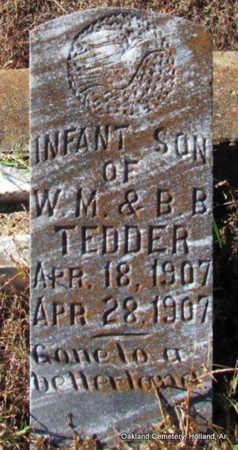 TEDDER, INFANT SON - Faulkner County, Arkansas | INFANT SON TEDDER - Arkansas Gravestone Photos