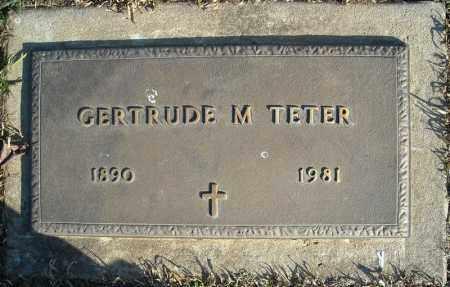 TETER, GERTRUDE M. - Faulkner County, Arkansas | GERTRUDE M. TETER - Arkansas Gravestone Photos
