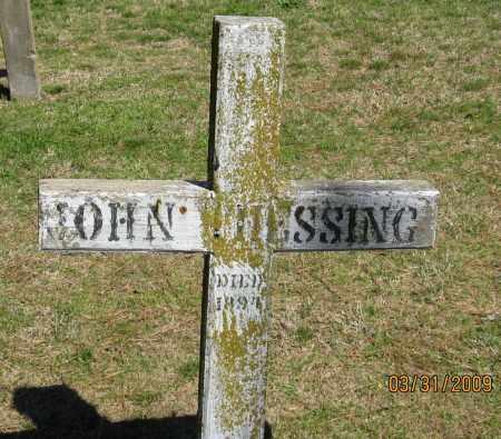 THESSING, JOHN - Faulkner County, Arkansas | JOHN THESSING - Arkansas Gravestone Photos