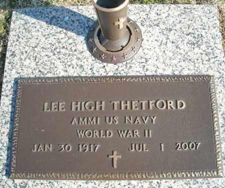 THETFORD (VETERAN WWII), LEE HIGH - Faulkner County, Arkansas | LEE HIGH THETFORD (VETERAN WWII) - Arkansas Gravestone Photos