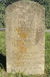 THOMAS, MARY - Faulkner County, Arkansas | MARY THOMAS - Arkansas Gravestone Photos