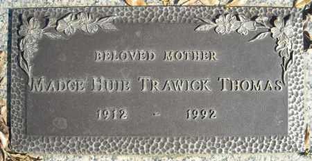 TRAWICK THOMAS, MADGE HUIE - Faulkner County, Arkansas | MADGE HUIE TRAWICK THOMAS - Arkansas Gravestone Photos