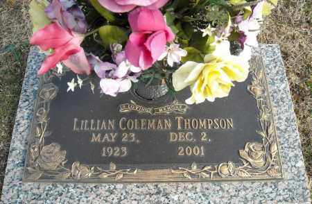 COLEMAN THOMPSON, LILLIAN - Faulkner County, Arkansas | LILLIAN COLEMAN THOMPSON - Arkansas Gravestone Photos