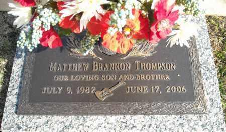 THOMPSON, MATTHEW BRANNON - Faulkner County, Arkansas | MATTHEW BRANNON THOMPSON - Arkansas Gravestone Photos