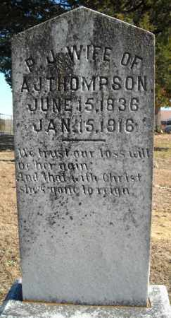 THOMPSON, P.J. - Faulkner County, Arkansas | P.J. THOMPSON - Arkansas Gravestone Photos