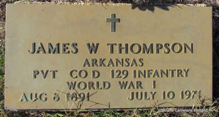 THOMPSON (VETERAN WWI), JAMES W - Faulkner County, Arkansas | JAMES W THOMPSON (VETERAN WWI) - Arkansas Gravestone Photos