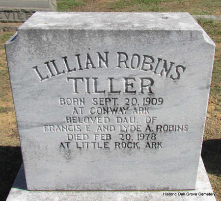 ROBINS TILLER, LILLIAN - Faulkner County, Arkansas | LILLIAN ROBINS TILLER - Arkansas Gravestone Photos