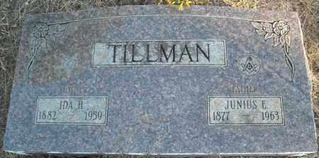 TILLMAN, JUNIUS E. - Faulkner County, Arkansas | JUNIUS E. TILLMAN - Arkansas Gravestone Photos