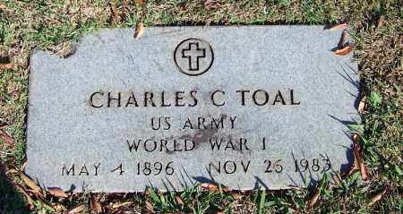 TOAL (VETERAN WWII), CHARLES C - Faulkner County, Arkansas | CHARLES C TOAL (VETERAN WWII) - Arkansas Gravestone Photos