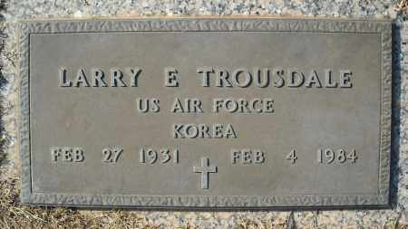 TROUSDALE (VETERAN KOR), LARRY E - Faulkner County, Arkansas | LARRY E TROUSDALE (VETERAN KOR) - Arkansas Gravestone Photos