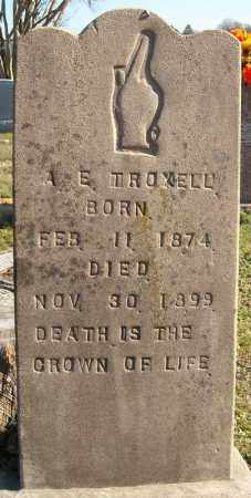 TROXELL, A.E. (2 STONES) - Faulkner County, Arkansas | A.E. (2 STONES) TROXELL - Arkansas Gravestone Photos