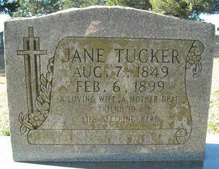 TUCKER, JANE - Faulkner County, Arkansas | JANE TUCKER - Arkansas Gravestone Photos