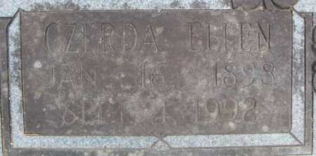 TURNER, CZERDA ELLEN  (CLOSE UP) - Faulkner County, Arkansas | CZERDA ELLEN  (CLOSE UP) TURNER - Arkansas Gravestone Photos