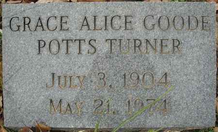 POTTS TURNER, GRACE ALICE - Faulkner County, Arkansas | GRACE ALICE POTTS TURNER - Arkansas Gravestone Photos