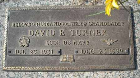 TURNER (VETERAN), DAVID E - Faulkner County, Arkansas | DAVID E TURNER (VETERAN) - Arkansas Gravestone Photos
