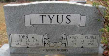 RIDDLE TYUS, RUBY L - Faulkner County, Arkansas | RUBY L RIDDLE TYUS - Arkansas Gravestone Photos