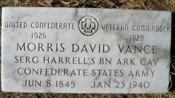 VANCE (VETERAN CSA), MORRIS DAVID - Faulkner County, Arkansas | MORRIS DAVID VANCE (VETERAN CSA) - Arkansas Gravestone Photos