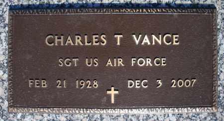 VANCE (VETERAN), CHARLES T - Faulkner County, Arkansas | CHARLES T VANCE (VETERAN) - Arkansas Gravestone Photos