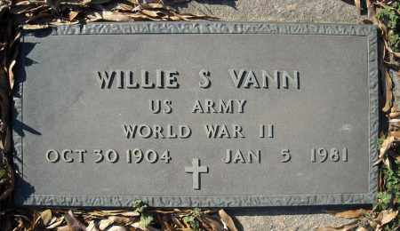 VANN (VETERAN WWII), WILLIE S - Faulkner County, Arkansas | WILLIE S VANN (VETERAN WWII) - Arkansas Gravestone Photos