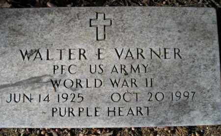 VARNER  (VETERAN WWII), WALTER E - Faulkner County, Arkansas | WALTER E VARNER  (VETERAN WWII) - Arkansas Gravestone Photos