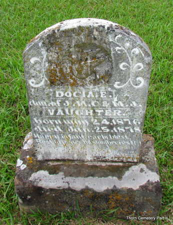 VAUGHTER, DOCIA E. - Faulkner County, Arkansas | DOCIA E. VAUGHTER - Arkansas Gravestone Photos