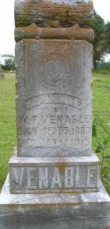 PETTY VENABLE, JANNIE - Faulkner County, Arkansas | JANNIE PETTY VENABLE - Arkansas Gravestone Photos