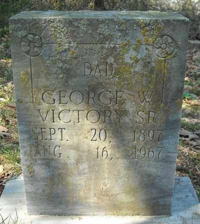 VICTORY, SR., GEORGE W. - Faulkner County, Arkansas | GEORGE W. VICTORY, SR. - Arkansas Gravestone Photos