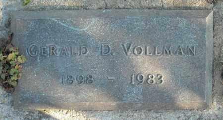 VOLLMAN, GERALD D. - Faulkner County, Arkansas | GERALD D. VOLLMAN - Arkansas Gravestone Photos