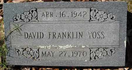 VOSS, DAVID FRANKLIN - Faulkner County, Arkansas | DAVID FRANKLIN VOSS - Arkansas Gravestone Photos