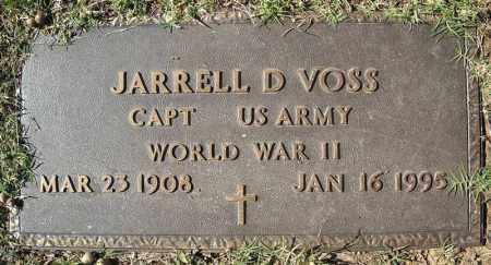 VOSS (VETERAN WWII), JARRELL D - Faulkner County, Arkansas | JARRELL D VOSS (VETERAN WWII) - Arkansas Gravestone Photos