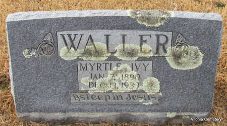 IVY WALLER, MYRTLE - Faulkner County, Arkansas | MYRTLE IVY WALLER - Arkansas Gravestone Photos