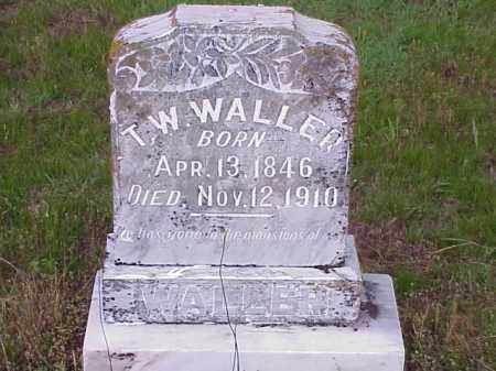 WALLER, T.W. - Faulkner County, Arkansas | T.W. WALLER - Arkansas Gravestone Photos