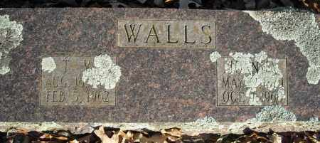 WALLS, T.W. - Faulkner County, Arkansas | T.W. WALLS - Arkansas Gravestone Photos