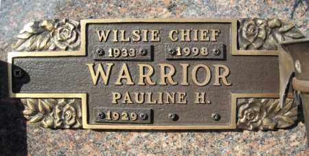 WARRIOR, WILSIE CHIEF - Faulkner County, Arkansas | WILSIE CHIEF WARRIOR - Arkansas Gravestone Photos