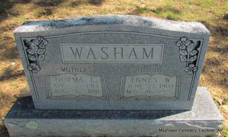 WASHAM, ENNES W - Faulkner County, Arkansas | ENNES W WASHAM - Arkansas Gravestone Photos